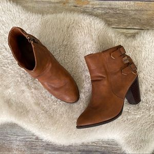 Bamboo Rebel Brown Ankle Booties